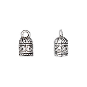 cord end, glue-in, antique silver-plated pewter (zinc-based alloy), 10x7mm barrel, 5mm inside diameter. sold per pkg of 20.