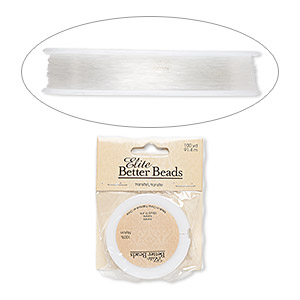 cord, nylon, clear, 0.25mm diameter. sold per 100-yard spool.