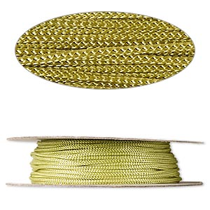 cord, nylon, olive green, 2mm round. sold per 100-foot spool.