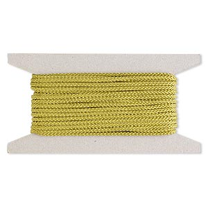 cord, nylon, olive green, 3mm round. sold per 25-foot card.