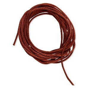cord, satinique™, satin, copper, 1.5mm small. sold per pkg of 10 feet.