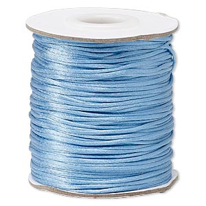 cord, satinique™, satin, denim blue, 1mm mini. sold per 200-foot spool.