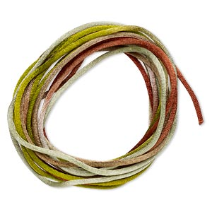 cord, satinique™, satin, forest, 2mm regular. sold per pkg of 10 feet.