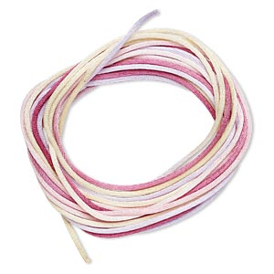 cord, satinique™, satin, tenderness, 1.5mm small. sold per pkg of 10 feet.