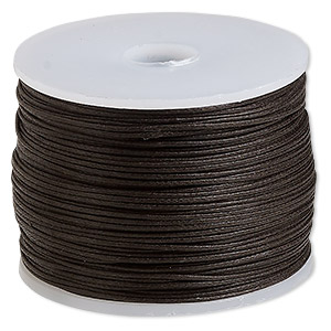 cord, waxed cotton, brown, 0.5mm. sold per 100-meter spool.