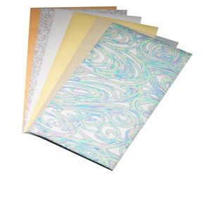 craft foil, lisa pavelka, multicolored, 8-1/2 x 4-3/4 inches. sold per pkg of 6 sheets.