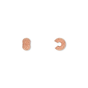 crimp cover, copper-plated brass, 5mm stardust round. sold per pkg of 100.