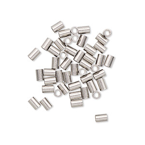 crimp, stainless steel, 3x2mm tube, 1.3mm inside diameter. sold per pkg of 50.