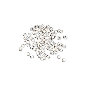 crimp, sterling silver, 1.6x1mm smooth round tube, 1.1mm inside diameter. sold per pkg of 100.