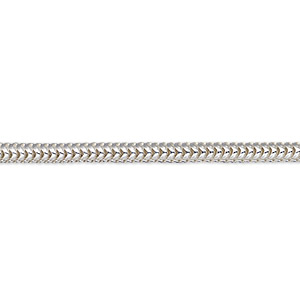 dione easy-on chain, sterling silver, 3mm snake, 6 inches with lobster claw clasp. sold individually.