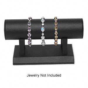 display, bracelet, leatherette, black, 7-1/2 x 3 x 4 inches overall. sold individually.