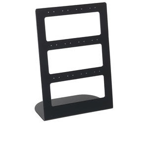 display, earring, acrylic, opaque black, 8-1/4 x 6 x 3 inches. sold per pkg of 2.