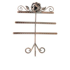 display, earring, antique copper-finished steel, 12 x 10 x 4-1/2 inches, holds 27 pairs. sold individually.
