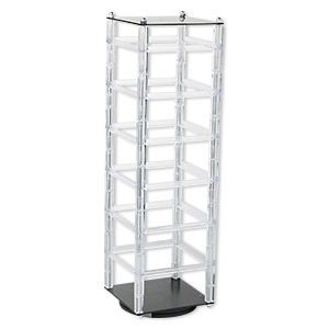 display, earring, plastic, acrylic, 18 x 5 x 5-inch revolving rack. sold individually.
