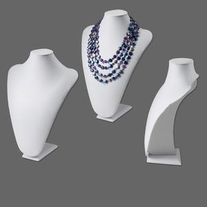 display, necklace, leatherette, white, 14x10 inches. sold individually.