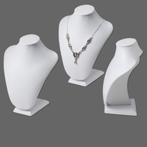 display, necklace, leatherette, white, 8x7 inches. sold individually.