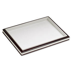 display tray, fiber board, brown and white, 12-1/2 x 9 x 1-inch easel. sold individually.