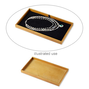 display tray, stained wood, 14-3/4 x 8-1/4 x 1-inch rectangle. sold individually.