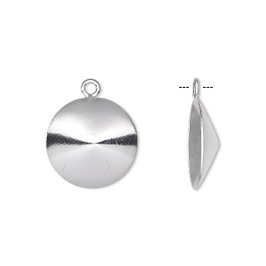 drop, almost instant jewelry, sterling silver, 16mm round with 16mm rivoli setting. sold individually.