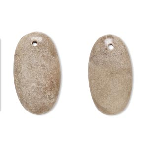 drop, brown feldspar (natural), 24x14mm-26x15mm puffed oval with flat back, b- grade, mohs hardness 6 to 6-1/2. sold per pkg of 2.