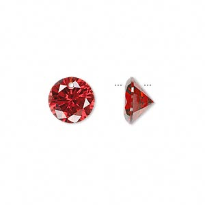drop, cubic zirconia, orange, 10mm hand-faceted round, mohs hardness 8-1/2. sold per pkg of 4.