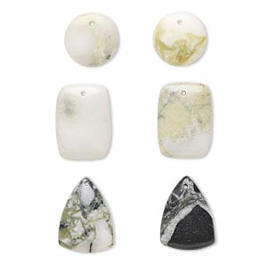 drop mix, multi-jasper (natural), 17mm-26x18mm mixed shape with flat back, mohs hardness 6-1/2 to 7. sold per pkg of 6.