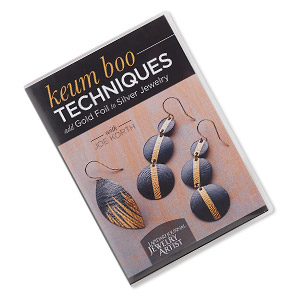 dvd, keum boo techniques: add gold foil to silver jewelry instructional video with joe korth. sold individually.