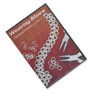 dvd, weaving silver: chainmail bracelets, vol. 1 instructional video with spider. sold individually.