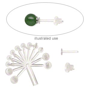 ear protector, comfee™, plastic, (8) 7x1mm sleeve with (4) 5x3.5mm back. sold per pkg of (2) 12-piece sets.