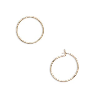 earring, 14kt gold-filled, 12.5mm round hoop. sold per pkg of 5 pairs.