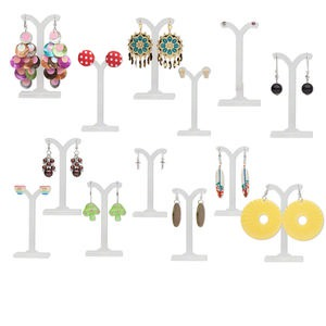 earring mix, mixed materials, multicolored, 2-40mm mixed shapes. sold per pkg of 6 pairs.