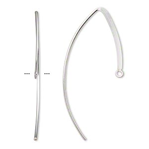 earwire, sterling silver-filled, 25mm flat marquise with closed loop, 18 gauge. sold per pair.