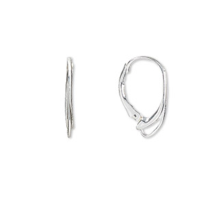 earwire, sterling silver,17mm oval leverback with open loop. sold per pair.
