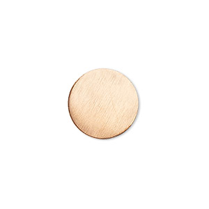 embellishment, copper, 15mm undrilled double-sided shiny flat round blank, 18 gauge. sold per pkg of 10.