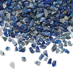 embellishment, lapis lazuli (natural), mini hand-cut undrilled chip, mohs hardness 5 to 6. sold per 50-gram pkg, approximately 850-1,100 pieces.