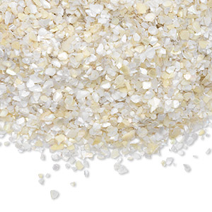 embellishment, mother-of-pearl shell (natural), mini undrilled chip, mohs hardness 3-1/2. sold per 1-ounce pkg.