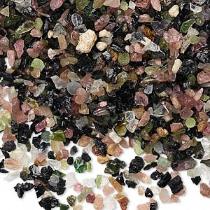 embellishment, multi-tourmaline (natural), mini undrilled chip, mohs hardness 7 to 7-1/2. sold per 50-gram pkg.