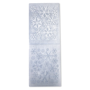 embosser folder, quickutz, blue, 5-3/4 x 4-1/4 inch rectangle with snowflake designs, a2 series. sold individually.