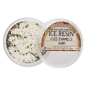 enamel powder, ice resin, iced enamels, ivory. sold per 0.25-ounce jar.