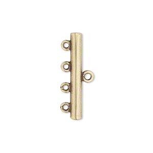 end bar, jbb findings, antiqued brass, 25x3mm single-sided bar with 4 bottom loops. sold per pkg of 2.