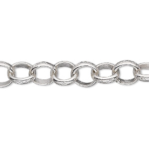 extender chain, hill tribes, fine silver, 8mm engraved rolo, 2 inches. sold individually.