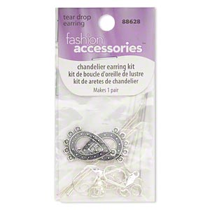finding, fashion accessories™, silver- and antiqued silver-finished brass, assorted size and shape. sold per pkg of 28.
