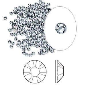 flat back, swarovski crystal rhinestone, crystal passions, denim blue, foil back, 1.7-1.9mm xilion rose (2058), ss5. sold per pkg of 144 (1 gross).