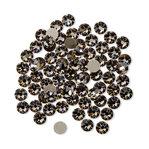 flat back, swarovski crystal rhinestone, crystal passions, greige, foil back, 3-3.2mm xirius rose (2088), ss12. sold per pkg of 144 (1 gross).
