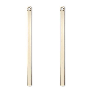focal, 14kt gold-filled, 38x2mm smooth bar. sold per pkg of 2.