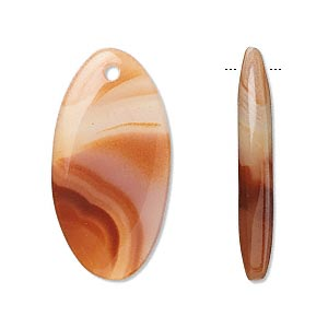 focal, agate (dyed / heated), 30x15mm oval, b grade, mohs hardness 6-1/2 to 7. sold per pkg of 2.