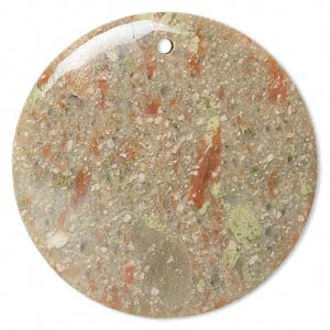 focal, autumn jasper (natural), 50mm round, b grade, mohs hardness 6-1/2 to 7. sold individually.
