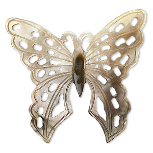 focal, black lip shell (natural), 56x52mm carved butterfly. sold individually.