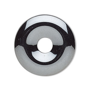 focal, hemalyke™ (man-made), 30mm round donut. sold per pkg of 4.