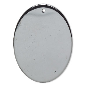 focal, hemalyke™ (man-made), 40x30mm flat oval. sold individually.